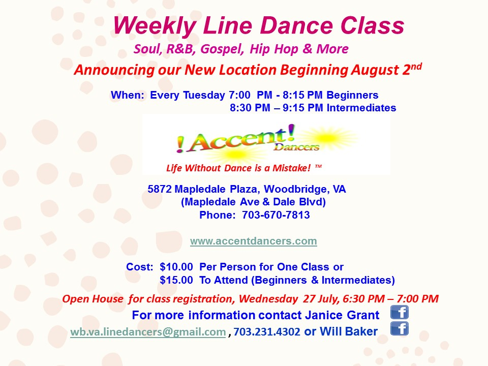 Line Dancing Classes Now Available